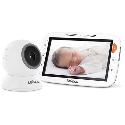 Levana Alexa 5 inch LCD Video Baby Monitor with Temperature Monitoring, Feeding/Nap Timer and Two Way Intercom