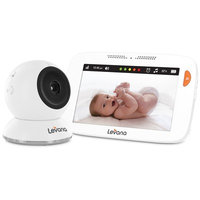 Levana Shiloh 5 inch Touchscreen High Definition Video Baby Monitor with Feeding and Temperature Alerts