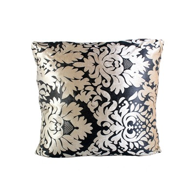 Black And Gold Filigree Cushion And Filler