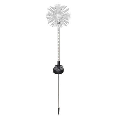 Solar White Flower Stake with 12 White Upward LEDs