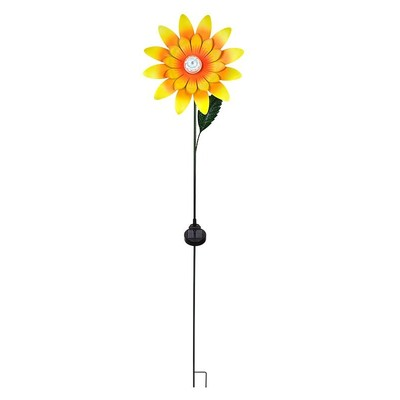 Rotating Sunflower Stake with Solar LED