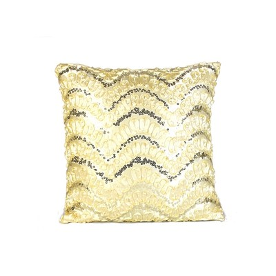 Wave Sequin Design Cushion Cover & Filler