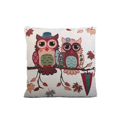 Owl Print Cushion & Filler