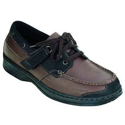 Orthopedic Footwear - Ortho Feet Tie Less Boat Shoes Medium Width Ref 422M