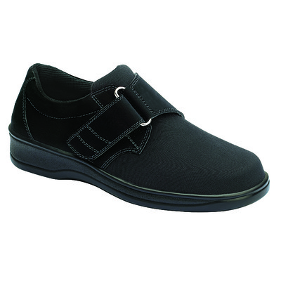 Orthopedic Footwear - Ortho Feet Women's Witchita Hook and Loop Velcro Washable Black Ref825M