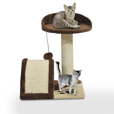 Cat Tree Pet Bed Post Scratcher Kitty Scratching Toys Furniture House Brown