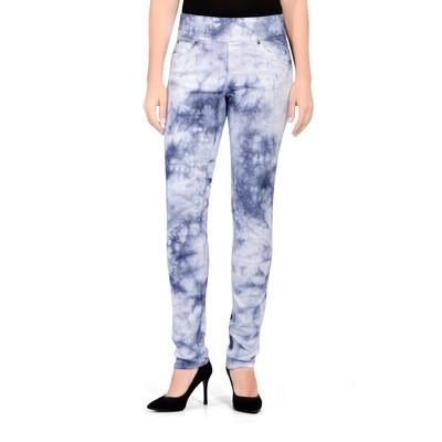 Bluberry Women's Tie & Dye Indigo Slim Leg Denim
