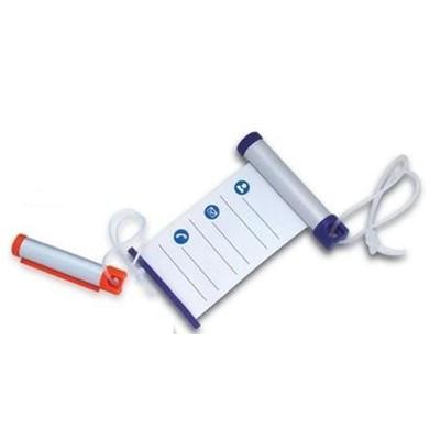 Write N Roll Luggage Tag - Silver/Grey