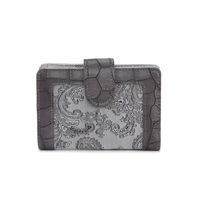 Luxanne Framed Canvas Grey Small Wallet