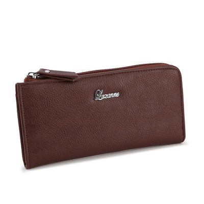 Luxanne Simplicity Brown Medium Wallet