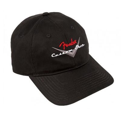 Fender Custom Shop Baseball Hat - Black, 0/S - Fender - 910-6635-306