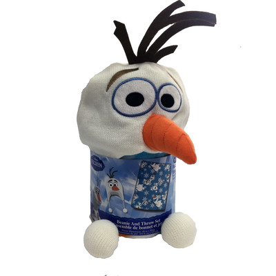 Olaf Cuddle Beanie Hat and Throw