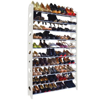 50-Pair Shoe Rack - White