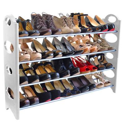 20-Pair Shoe Rack - White