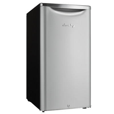 Danby Contemporary Classic 3.3 cu. ft. Compact Refrigerator, Iridium Silver Steel