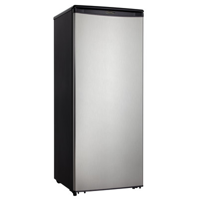 Danby Designer 11 Cubic Feet Refrigerator-Black Stainless Look