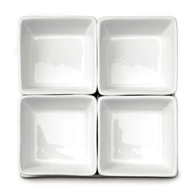 Square Bowl 4 Piece Set on Tray