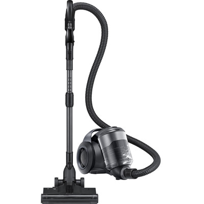 Samsung Bagless Canister Vacuum with Motion Sync, Titanium Silver (VC12F70PRJC)