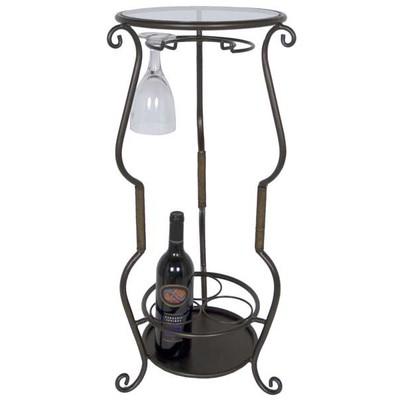 Elegant Wine Bottle Holder Accent Table