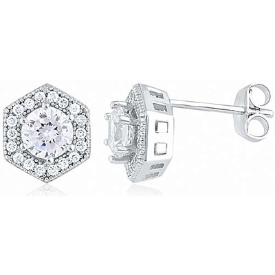Sterling Silver Earring with Micro Set CZ