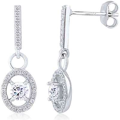 Sterling Silver Earring with CZ