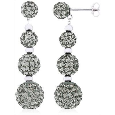 Sterling Silver Crystal Earrings