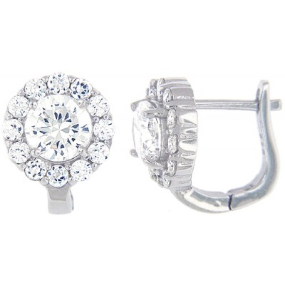 Sterling Silver Earring with Cubic Zirconia