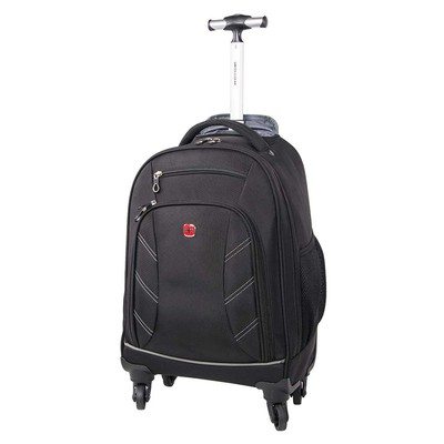 "Swiss Gear Black 15.6"" Computer Wheeled Backpack"