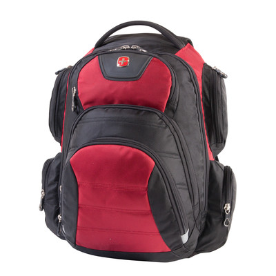 "Swiss Gear Black and Red 15.6"" Computer Backpack"