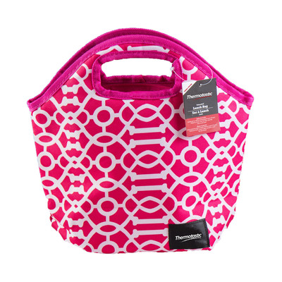 Thermotastic Insulated Lunch Bag, Pink & White (1906-0925)
