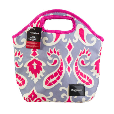 Thermotastic Insulated Lunch Bag, Pink & Grey (1906-0928)