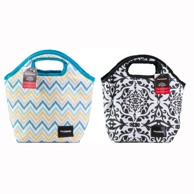 Thermotastic Insulated Lunch Bag 2pc Set (Black&White and Blue&Yellow)