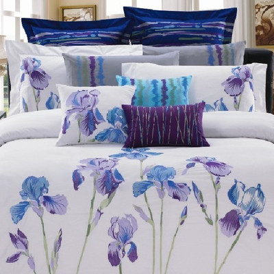 Iris 8 Piece Comforter Set - Double