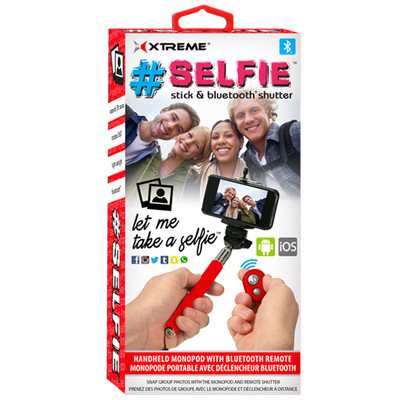 Selfie Stick with Bluetooth Remote - Red (8-05106-51966-7)