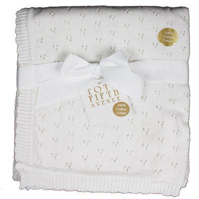 Pointelle Blanket - White