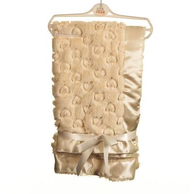 Heart Embossed Fur Blanket