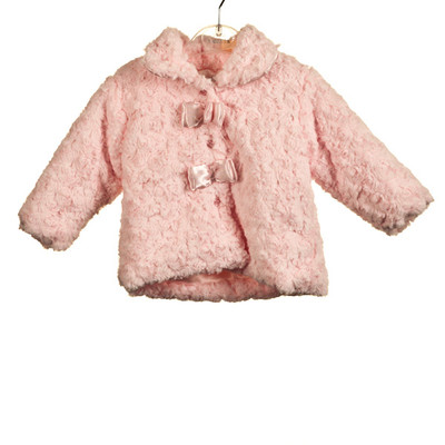 Rosebud Fur Jacket - Pink
