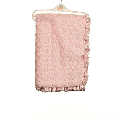 Rosebud Fur Blanket - Pink