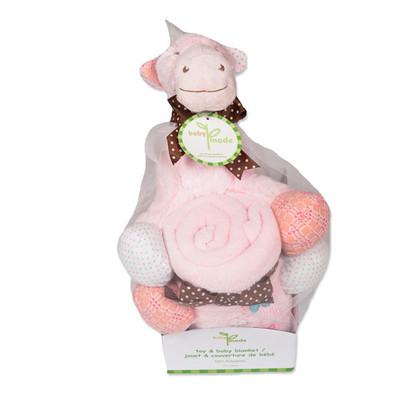 Giraffe Plush & Blanket Gift Set - Pink