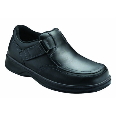 Orthopedic Footwear - Ortho Feet Men's Two Way Strap Comfort Carnegie Black
