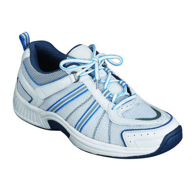 Orthopedic Footwear - Ortho Feet Women's Tahoe Comfort Athletic White/Blue