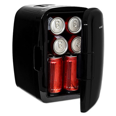 Magnasonic Portable 8 Can Mini Fridge Cooler & Warmer, 5L Capacity, 110V & 12V AC/DC Power for Home, Office, Car & Boat