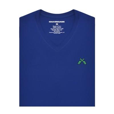 Chainsaw Brands Royal Blue Pima Cotton V-Neck