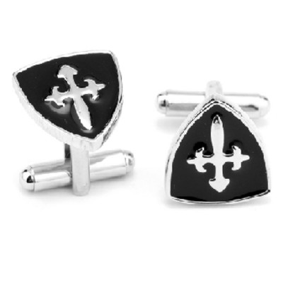 Crossing of the Shield Stainless Steel Cufflinks