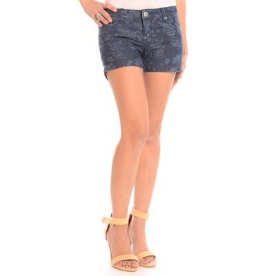 Floral Jacquard 5- Pocket Shorts