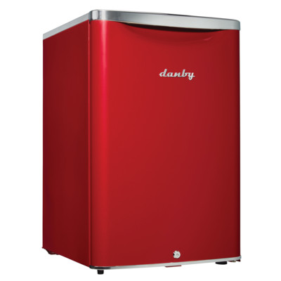 Danby Contemporary Classic 2.6 Cu.Ft. Compact Refrigerator, Scarlett Metallic Red - Special Edition