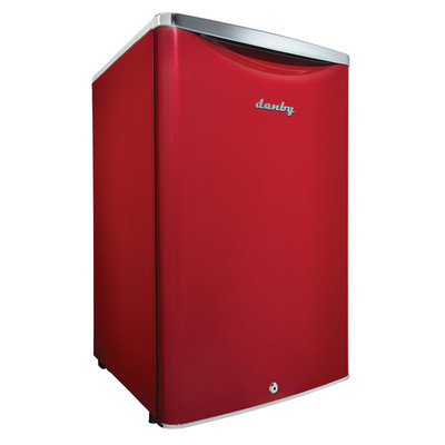 Danby Contemporary Classic 4.4 Cu.Ft. Compact Refrigerator, Scarlett Metallic Red - Special Edition
