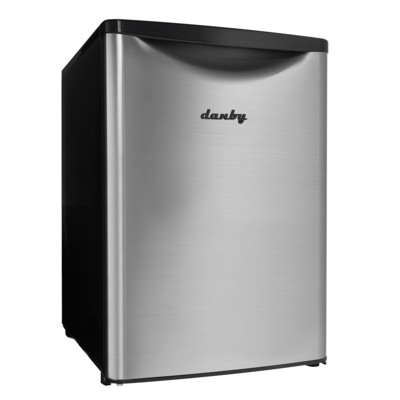 Danby Contemporary Classic 2.6 Cu.Ft. Compact Refrigerator, Spotless Steel