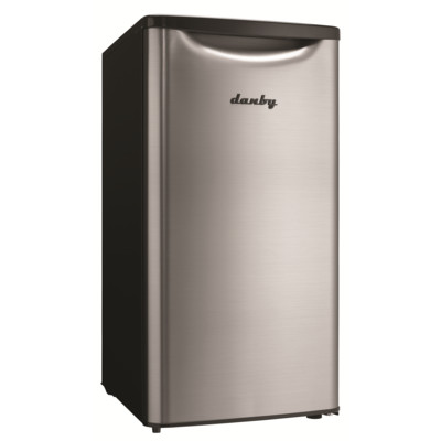 Danby Contemporary Classic 3.3 Cu.Ft. Compact Refrigerator, Spotless Steel