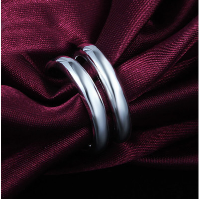 Silver Plated Double Bar Knuckle Ring